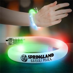 Flashing LED Coil Tube Bracelet - 11 Inch