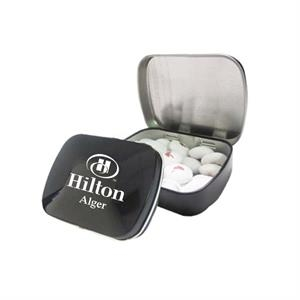 Domed Tin filled with Personalized Chocolate Buttons