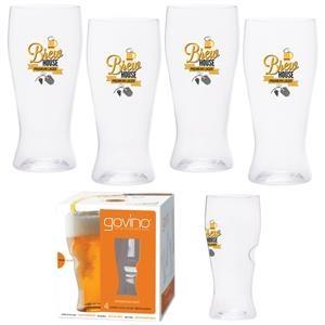 Dishwasher Safe Govino(R) 16oz Beer Glass 4 Pack
