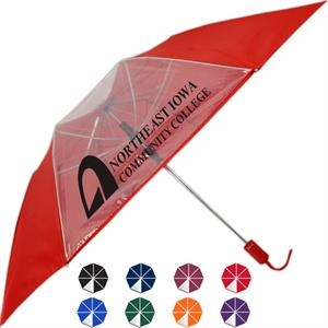 Crystal 7 & 1 Clear Panel Folding Umbrella
