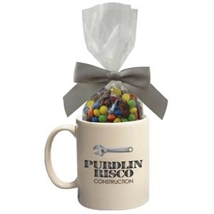 Ceramic Mug with Chocolate Littles Compare to M&M(r) candy