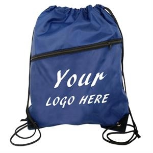 Sports Zippered Drawstring Bag