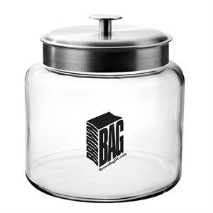 Glass Cookie Jar / Empty