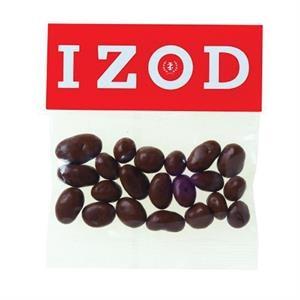 2 oz Chocolate Raisins / Header Bag