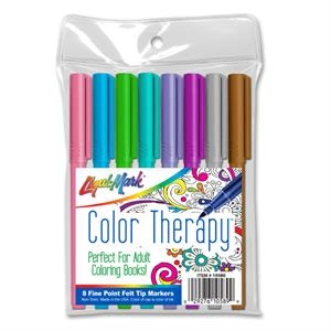 8 Pack Color Therapy Adult Coloring Markers-Fashion Colors