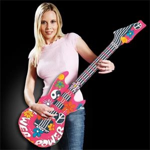 "42"" Inflatable Guitar with Groovy Design"