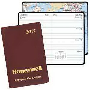 Mini Weekly Pocket Planner with Continental Vinyl Cover