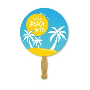 Deluxe Hand Fan- Circle