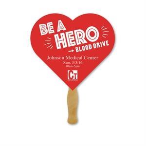 Deluxe Hand Fan- Heart