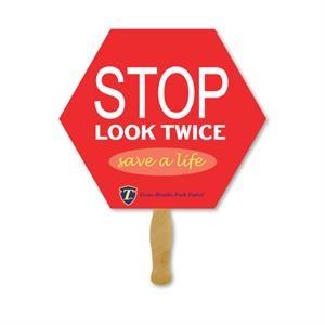 Deluxe Hand Fan- Stop