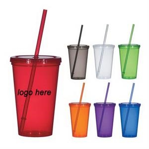Stadium Cups, Tumbler with Straw, Beverage Cup