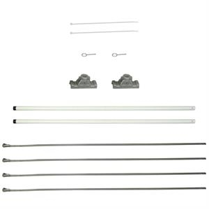 """30"""" Single Economy Fiberglass Mounting Sets for Ave. Banners"""