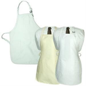 LogoTec Gourmet Apron with Pockets - Natural and White