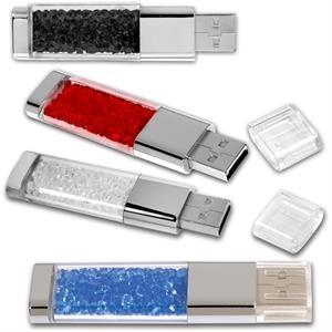 Crystals USB Memory Flash Drive