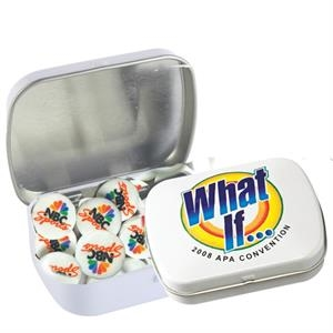 Domed Tin - Imprinted Round Mints