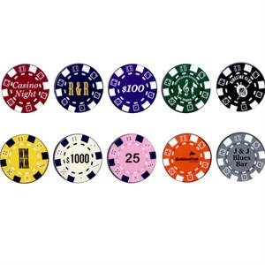 Striped Dice 11.5 Gram  - One Color Hot Stamp