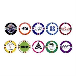 12 Stripe Poker Chips