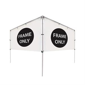 12'W x 5'H In-Ground V-Shape Banner Hardware Only