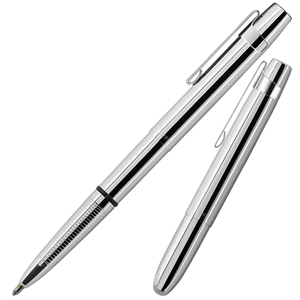 Flat Top Chrome with Clip Space Pen