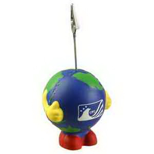 Earthball Man Memo Holder Stress Reliever