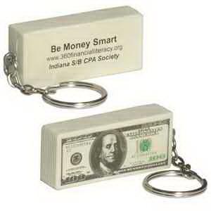 100 Dollar Bill Key Chain Stress Reliever