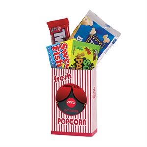 Striped Movie Snack Box With Assorted Candies