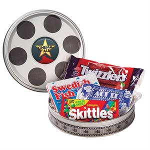 Large Film Reel Tin With Assorted Candies