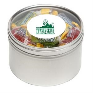Jolly Ranchers in Large Round Window Tin