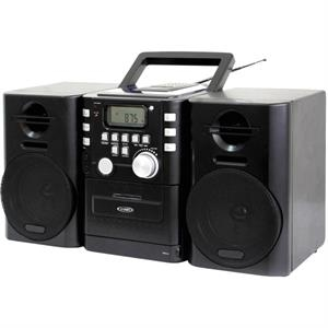 Jensen Portable CD Music System with Cassette and FM Radio