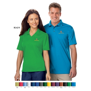 Ladies SS Solid V-Neck Moisture Wicking Polo