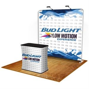 Tension Fabric Display Straight with Podium and Light Kit