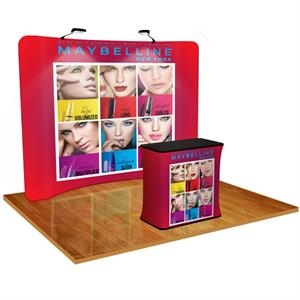 Tension Fabric Display Curved with Podium and Light Kit