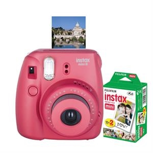 FUJIFILM North America Instax Mini 8 Raspberry Bundle