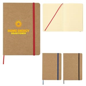 "5"" X 7"" Eco-Inspired Strap Notebook"