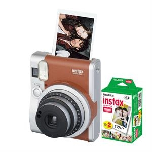 FUJIFILM Instax Mini 90 Neo Classic (Brown) Bundle