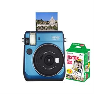 FUJIFILM North America Instax Mini 70 Blue Bundle