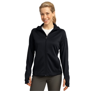 Sport-Tek Ladies Tech Fleece Full-Zip Hooded Jacket.