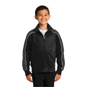 Sport-Tek Youth Piped Tricot Track Jacket.