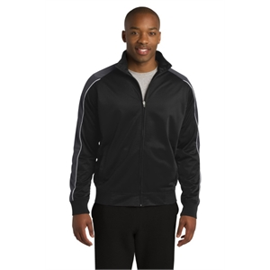 Sport-Tek Piped Tricot Track Jacket.