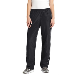 Sport-Tek Ladies Piped Wind Pant.