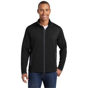 Sport-Tek Sport-Wick Stretch Contrast Full-Zip Jacket.