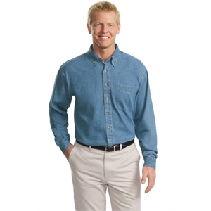 Port Authority Tall Long Sleeve Denim Shirt.