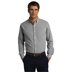 Port Authority Long Sleeve Gingham Easy Care Shirt.