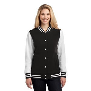 Sport-Tek Ladies Fleece Letterman Jacket.
