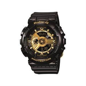 Casio Black and Gold-Tone Baby-G Shock Watch