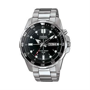 Casio Diver Illuminator Stainless Steel Watch Black Dial