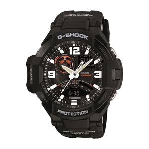 Casio G-Aviation Twin Sensor Luxury Watch - Black
