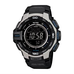 Casio Pro Trek Triple Sensor Watch Black Dial and Resin Band