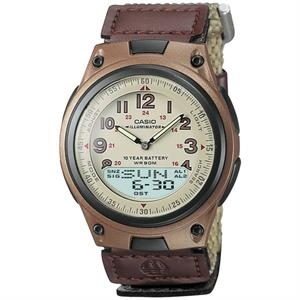 Casio Brown Casual Sports Watch with Cloth Band