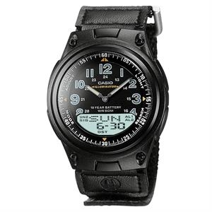 Casio Mens Ana-Digi Data Bank Watch w/World Time